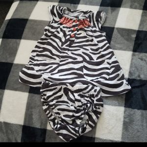 GUC Carter's Girls 2 piece Print Summer Set - 3 mo
